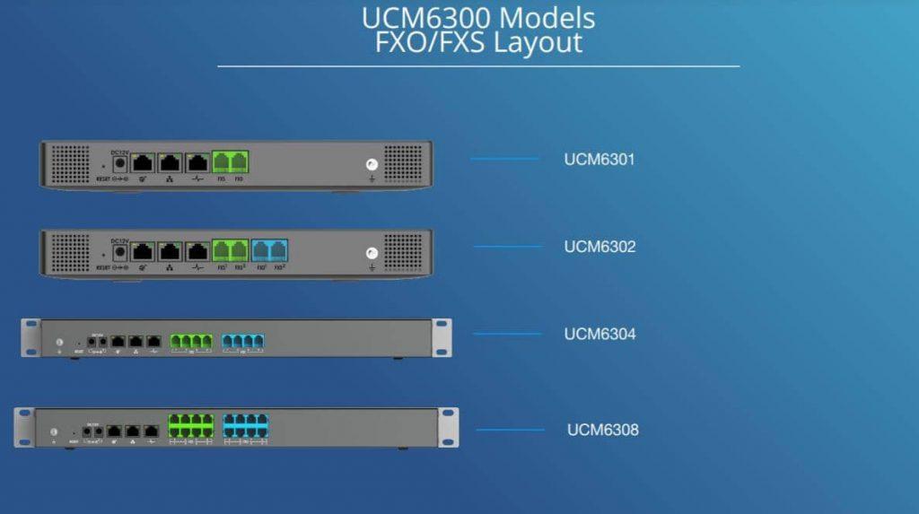 مقایسه ucm6301-6302-6304-6308 grandsream